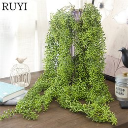 Wholesale green wall planting - Simulation Walled Buddha Beans Plant Diy Artificial Fake Green Plant Wedding Decoration Hotel Background Party Home Decoration