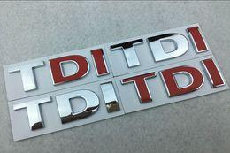 Wholesale Vw Passat Accessories - Car 3D TDI Badge Emblem Decal Sticker Logo for VW Golf JETTA PASSAT MK4 MK5 MK6 skoda seat Car styling car accessories