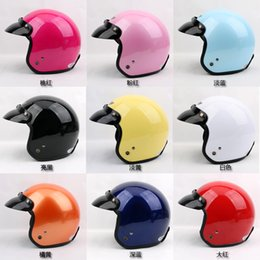 Wholesale Casque Open Face Moto - Free Shipping Promotion P#108 Vintage Cycling Moto Helm Open Face Casque Scooter Casco Motorcycle Helmet With Glasses Adult Summer Helmet