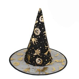 Wholesale Adult Cake Costume - Wholesale-Easter 2016 Hot Sale New Fashion Design Adult Womens Black Witch Hat For Halloween Costume Accessory Supplies Free Shipping