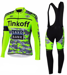 Wholesale Saxo Pink - Tinkoff Saxo Bank Long Sleeve Cycling Jersey Set Sportwear Bicycle Clothing MTB bike maillot ropa ciclismo hombre cheap-clothes-china