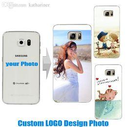 Wholesale S2 Hard Cover - Wholesale-Custom LOGO Design DIY Photo Case Hard PC Back Cover For Samsung Galaxy S2 S4 S5 mini S6 S3 Note 2 3 4 5 A3 A5 A7 A8 J1 J5 J7 E7
