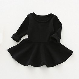 Wholesale Sun Jacket Baby - Sun Moon Kids Baby Dress 2017 Long Sleeve 1 Year Birthday Dress Casual Ruffles Newborn Baby Girl Clothes Princess Tutu Dresses
