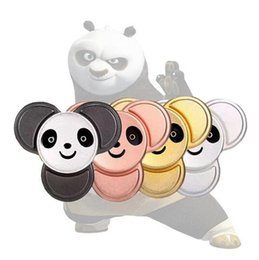 Wholesale Wholesale Kung Fu - New style Kung Fu Panda Fidget Spinner 4 color Metal Hand Spinner Reduce Stress and Increase Attention Tri-spinner Stress Wheel