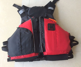 Wholesale Buoyancy Aid Vest - Wholesale- Free shipping CE Certified Kayak Life Jackets,Rafting life vest Adult red color Buoyancy aids PFD big pocket