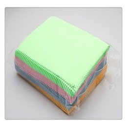 Wholesale Wholesale Polishing Cloth For Jewelry - Hot Cleaning Tools Colorful Silver Polish Cloth For Silver Golden Jewelry Cleaner Phone Screen Camera Lens Glasses Square Cleaning Clothes