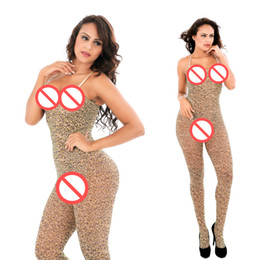 Wholesale Plus Size Lingerie Sexy Quality - Hot Sale Female Lingerie Quality hot leopard print spaghetti strap Sexy bodysuit sexy lingerie body stocking plus size for women