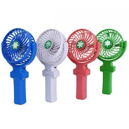 Wholesale Emergency Fan - NEW Handy Usb Fan Foldable Handle Mini Charging Electric Fans Snowflake Handheld Portable For Home Office Gifts RETAIL BOX DHL free