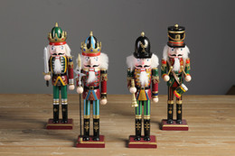 Wholesale Wooden Christmas Ornaments Wholesale - 30cm Nutcracker Puppet Soldiers Home Decorations for Christmas Creative Ornaments and Feative and Parrty Christmas gift
