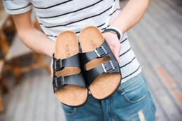 Wholesale Couples Summer Wear - Summer Platform Fashion Women Sandals Cork Slippers Slippery Wear-Resisting Direct Selling Wholesale Men Women Couples Leisure Beach Shoes