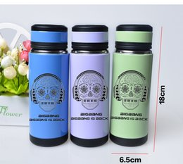 Wholesale Stainless Steel Skull Flask - Wholesale- Skull Pattern Double Layer Stainless Steel Thermos Vacuum Bottle Keep-warm Vacuum Flask