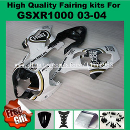 Wholesale Black Lucky Strike Fairing - Injection Molding fairing kits for SUZUKI GSXR1000 03 04 GSX-R1000 03 04 ABS Fairings kit GSXR 1000 2003 2004 white black lucky strike