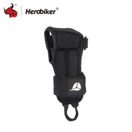 Wholesale Wholesale Ski Gear - Wholesale- HEROBIKER Wrist Support Protective Gear Palm Guards Brace Sport Hand Protector Armguard Gloves for Snowboard Motorcycle Skiing