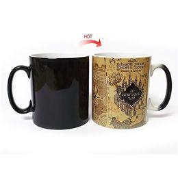 Wholesale Eco C - Coffee Mugs Magic Hot Cold Heat Temperature Sensitive Color Changing Marauders Map Cup Heat Resisting Creative Gift 18yo C R