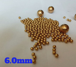 Wholesale unit switch - 6mm Solid Brass (H62) Bearing Balls For Industrial Pumps, Valves, Electronic Devices, Heating Units, Furniture Rails and Safety Switches