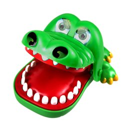 Wholesale Stuffed Gags - Bite Your Finger Gags Crocodile Toy Animal Kids Funny Toy Boys Novelty Gags Joking Toys For Kids Gift Cartoon Animal Cute