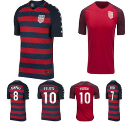 Wholesale Team Usa Football Jersey - USA Soccer Jerseys 17 18 Thailand Quality American National Team Gold Cup 2017 United States DEMPSEY DONOVAN BRADLEY PULISIC Football shirts