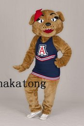 Wholesale Teams Mascot Costumes - Sport Team Wildcat Mascot Costume for Halloween christmas Party Costume Cartoon costume suit Outfit