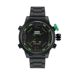 Wholesale Ohsen Led Digital Watches - Wholesale- OHSEN Brand New Waterproof Men Sports Watches Quartz LED Digital Watch Full Stainless Steel Male Casual Wristwatches Gift
