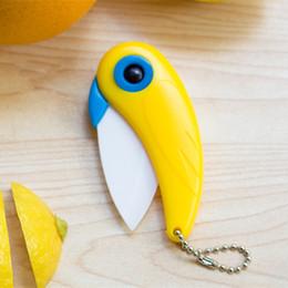 Wholesale Wholesale Ceramic Knifes - hot sales Mini Bird Ceramic Knife Gift Knife Pocket Ceramic Folding Knives Kitchen Fruit Paring Knife