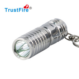 Wholesale keychain rechargeable led flashlight - Stainless Steel Mini LED Flashlight Waterproof Keychain LED Light Key Chain Flashlight Best Gift Key Holder Housing 16340 Rechargeable Torch