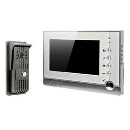 Wholesale Video Intercom Sd - 7 Inch Recordable Video Door Phone Intercom With Photo Shooting Video Recording DVR SD Card Support TFT-LCD DB182