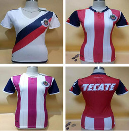 Wholesale Named Clothes - thai quality 16 17 CHIVAS women soccer jerseys guadalajara custom name number lady soccer uniform girl football jersey clothing