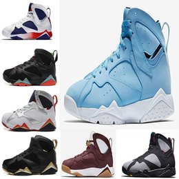 Wholesale Green Gg - 2017 air retro 7 VII mans Basketball Shoes Olympic Tinker Alternate Raptor Hares Bordeaux GG Cardinal Citrus French Blue VII sports Sneakers