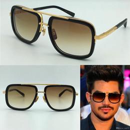 Wholesale Pc Styles - Hot new men brand designer sunglasses titanium sunglasses gold plated vintage retro style square frame UV400 lens original case