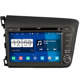 Wholesale Honda Civic Car Dvd Player - Winca S160 Android 4.4 System Car DVD GPS Headunit Sat Nav for Honda Civic 2012 with Radio Stereo Video OBD Wifi