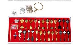 Wholesale Classic Fairy Tails - 29 pcs Anime Fairy Tail keys Cosplay Zinc Alloy beautiful KeyChains christmas gift birthday gift lovers gift