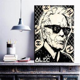 eulenmalereien modern Rabatt ZZ269 schwarz weiß portrait leinwand kunst alec monopol mann leinwand öl kunst malerei wandbilder für wohnzimmer schlafzimmer dekoration
