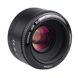 Wholesale Auto Focus Lens - YONGNUO 50mm f 1.8 AF MF Lens Large Aperture Auto Focus for Canon EOS 600d for Nikon d3300 d3200 d5300 d3100 Camera