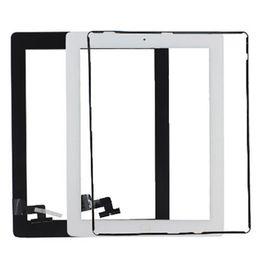 Panel de vidrio de pantalla táctil con adhesivo de botones digitalizador para iPad 2 3 4 Blanco y negro de DHL gratis desde fabricantes