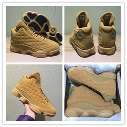 Wholesale Golden Beige - Wholesale Retro 13 Basketball Shoes Winter Wheat Golden Harvest Elemental Gold Men 13s Basketball Sneaker Athletic Sports Shoes With Box