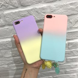 Wholesale Cell Phone Hard Cases Cheap - New Small Fresh Literary And Artistic Gradient For Iphone7 Mobile Phone Cases For iPhone7plus Cheap Cell phone Hard Covers Cases 6S Tide Fem