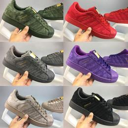 Wholesale Women Waterproof Leather Shoes - 2017 Originals Superstar shoes Hologram Iridescent Junior superstar sapatos Pride Sneakers Super Star Women Men Sport Casual Shoes 36-44