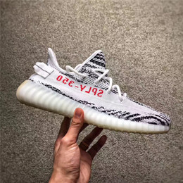 Wholesale Lace Up Snow Boots Women - SPLY-350 Cream White 350 Boost V2 2018 New Kanye West Boost 350 V2 SPLY Running Shoes Beluga Triple White Zebra Bred Black 20 Color With Box
