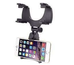 vkworld phones Coupons - Adjustable Rotary GPS Mobile Phone Car Auto Rearview Mirror Holders Stands For VKworld G1 Giant T1 Plus Vernee Thor Mars Apollo
