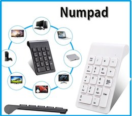 Wholesale Numeric Mini Keyboard - 2.4GHz Wireless Keyboard USB Numeric Keypad 18Keys Mini Digital Keyboard Ultra Slim Number Pad High Quality For Compute PC Laptop