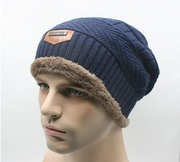 Argentina 2016 hombres de la venta caliente suave forrado lana gruesa Knit Skull Cap cálido invierno Slouchy gorros sombrero Suministro