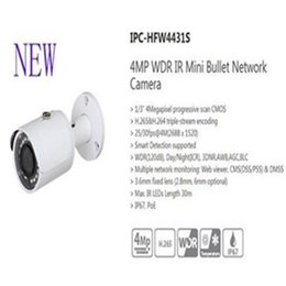 Wholesale Ip Camera Outdoor Wdr - Free Shipping DAHUA Security IP Camera 4MP WDR IR Mini Bullet Network Camera IP67 PoE Without Logo IPC-HFW4431S