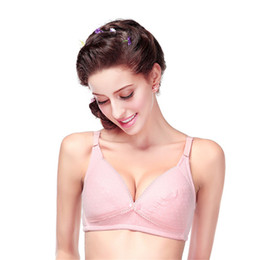 Wholesale Breast Sag - New Breast Feeding cotton Maternity Bra Nursing Bras prevent sagging for women soutien gorge allaitement Maternity Intimates
