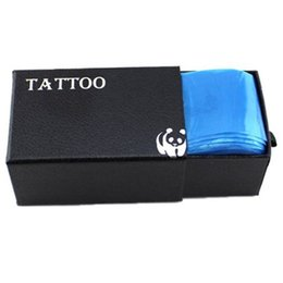 Wholesale Tattoo Clip Covers - Wholesale-Pro 100pcs Medical Blue Plastic Tattoo Machine Clip Cord Sleeves Covers Bags