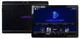 Wholesale Mini Pc Gps - 4pcs Custom Made 10.1inch IPS 2in 1 mini Smart TV Tablet PC with KDplayer Live TV Mobdro NetFlix Hulu Quadcore 1GB 8GB 3G Bluetooth WIFI GPS