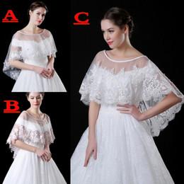 Wholesale Short Sleeves Lace Bolero Jacket - 2017 Elegant Lace Bolero for Brides Half Long Sleeves Appliques Beaded Short Jacket Wedding Wraps Shawl Cheap CPA911