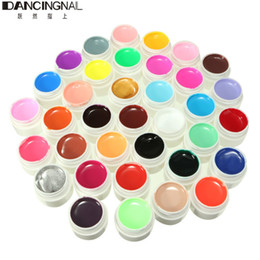 Wholesale Uv Nails Cover Gel - Wholesale- Pro 36 Pots Nail Art UV Gel Tips Shiny Cover Solid Colors Excellent Extension DIY Manicure For Decoration Design Tools