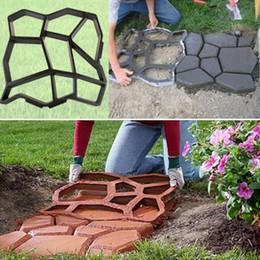 Wholesale Concrete Stone Mold - Plastic Path Maker Mold 43.5*43.5cm Manually Paving Cement Brick Stone Road Concrete Molds DIY Plastic Mold for Garden