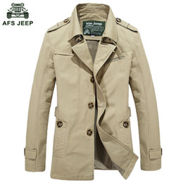 Wholesale Brown Men S Trench Coat - Wholesale- 2017 New Arrived Mens Quality Trench Men's Outerwear Casual Coat Men's Jackets Trench Coat Men Free Shipping M~5XL69hfx