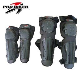 Wholesale Motorcycle Shin Guards - Wholesale- PRO-BIKER Motorcycle Motocross Durable Knee Shin Protector Guard Pads Protective Elbow And Knee Set Free Shipping